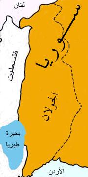 يدعو العالم للإعتراف الجولان للكيان GolanMap.jpg